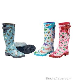 Womens Patterned Garden Boots - Women Boots And Booties