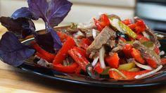 Салат Гранатовая Соломка с Соусом Который Вы полюбите. Быстрый мясной рецепт с овощами
