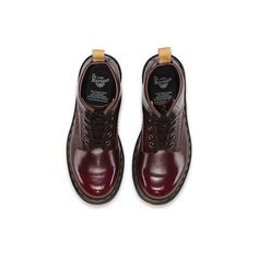 Dr. Martens Vegan 1460 Short Lace-Up Low Boot ($130) ❤ liked on Polyvore featuring shoes, boots, ankle booties, front lace up boots, vegan booties, laced up booties, vegan leather boots and short boots