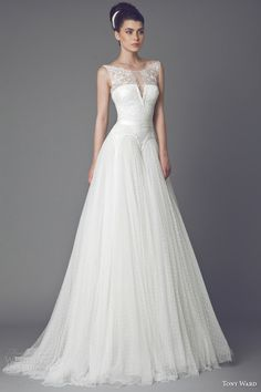tony ward bridal 2015 bleuetta sleeveless wedding dress