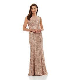 Ignite Evenings Sequined Cutout-Back Dress | Dillards.com - $218