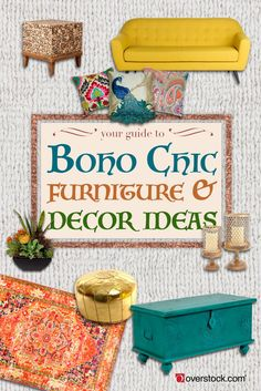 Boho chic design is all about color and texture. Check out our tips for creating your own bohemian retreat for any room in your home!