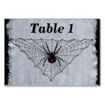 Black Widow Spider Red Marking in Black Web Card #halloween #happyhalloween #halloweenparty #halloweenmakeup #halloweencostume