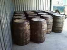 I will be going after a load of fresh dumped Whiskey Barrels about the10th of March.  I will be getting Jim Beam or Heaven Hill and Maker's Mark Barrels @ $130ea. I can only bring back 6 this trip so order now. They make very good Wine Barrels, or they can be used for table bases, sink stand, they could be cut in half and to make flower pots. They would make good rain barrels. I will need a 25 dol per barrel deposit with your order.  Call Ken at 937-689-2213