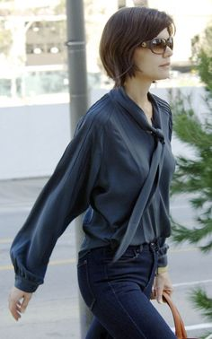 Katie Holmes hair and style