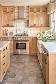Popular Modern Farmhouse Kitchen Backsplash Ideas 25