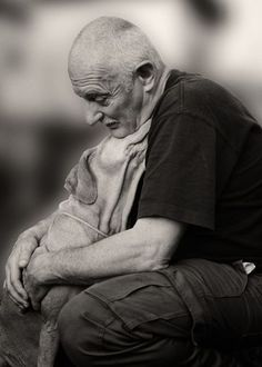 a man and his dog by tricia