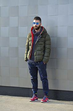 Street fashion for men.