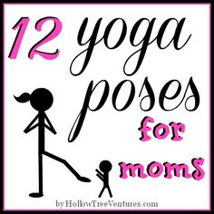 12 yoga poses for moms - hilarious! Poses that look familiar, but are now tailor-made for motherhood. By @RobynHTV #funny