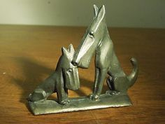 Vintage Scottish Terrier Scotty Dog Mother and Puppy Metal Bottle Opener