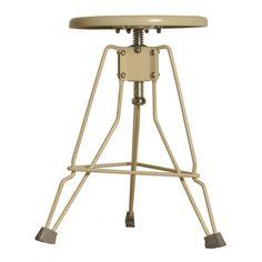 Metalowy stołek warsztatowy Clipper Ivory Zuiver