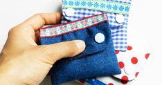 Mini Clutches zur Aufbewahrung für all die kleinen Dinge, die sonst lose in der Tasche herumfliegen.  Schnell genäht aus kleinsten Stof...