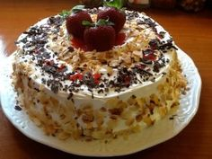 Τούρτα λευκή , δροσερή Greek Sweets, Greek Desserts, Greek Recipes, How To Make Cake, Food To Make, My Food Pyramid, I Foods, Dessert Recipes, Food And Drink
