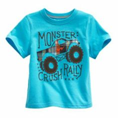 Jumping Beans Monster Truck Tee - Toddler Silhouette Cameo Vinyl, Baby Checklist, Kids Wardrobe, Infant Boys, Summer Boy, Jumping Beans, Grandkids, Wales, Boy Outfits