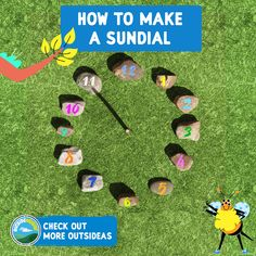 Find lots of outsideas and activities that make the outside the most un-boringest place ever.  Sundial, The Outsiders, Have Fun, Activities, Learning, Places, How To Make, Studying, Teaching