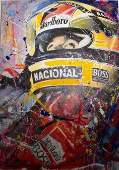 Eric Jan Kremer is a world famous Formula 1 and MotoGP artist. He painted Max Verstappen, Lewis Hamilton, Ayrton Senna, Valentino Rossi and many more. Motogp, Sport Cars, Race Cars, Driving Academy, Stock Car, Aryton Senna, Hamilton, Formula 1 Car, Cars Motorcycles