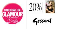 Nie przegapcie tej okazji! Zapraszamy na Narodowe Dni Glamour z marką Gossard na którą tylko w ten weekend z kuponem otrzymacie 20% ZNIŻKI!
