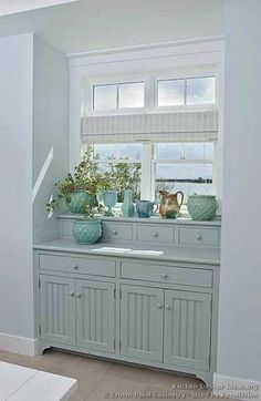 built-ins below windows for the recycling center?