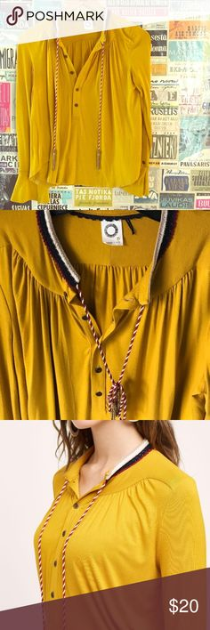 Akemi + Kin Anthro Yellow Top Very pretty casual top! In great condition. Barely used! Anthropologie Tops Blouses