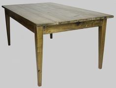 Farm Table, made with reclaimed wood at Woodstock Vintage Lumber in Nashville, TN.