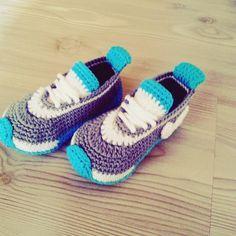 Örgü Nike Bebek Patiği Yapımı | Hobilendik.net
