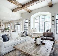 Love those wood beams!!
