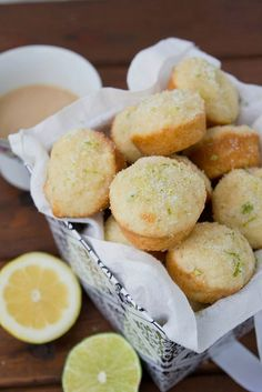 lemon lime mini muffins, b/c I am a sucker for mini muffins. Cake Pops, Baking Recipes, Muffin Recipes, Sweets Recipes, Yummy Recipes, Mini Muffin Pan, French Toast Bake, Bread Cake, Mini Muffins