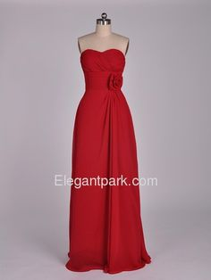 classic sweetheart chiffon dress