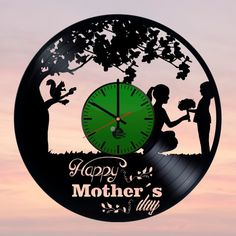 Mother's Day Handmade Vinyl Record Wall Clock Fan Gift (Copy) - VINYL CLOCKS