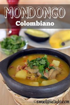 I still remember the first day I tried Colombian mondongo (beef tripe stew). I think I was 7 or 8 years old and my mom told me that she had made it for lunch. Colombian Dishes, Colombian Cuisine, Soup Recipes, Cooking Recipes, Cuban Recipes, Spanish Recipes, Cooking Ideas, Healthy Recipes, Columbian Recipes