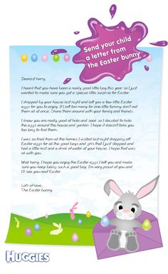 Download a free easter bunny letter template for ms word or make your child feel special with a personalised letter from the easter bunny spiritdancerdesigns Choice Image