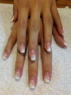 Wedding nails. Lace French manicure