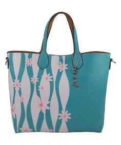 Another great find on #zulily! Pink Haley Blue Emma Flower Reversible Tote by Pink Haley #zulilyfinds
