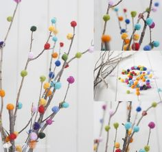 DIY Pom-Pom Tree | Community Post: 15 DIY Pom-Pom Projects For Jazzing Up Everyday Items