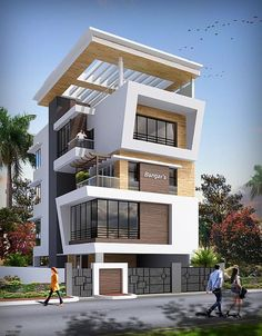 Modern house plans offer a great alternative to the more traditional styles.Unlike age-old properties, new apartments and homes are built to optimize the comfort of modern housing. Villa Design, Facade Design, Exterior Design, House Front Design, Modern House Design, Contemporary Architecture, Architecture Design, Amazing Architecture, Building Design