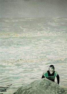FIGURE IN THE SURF By Peter Doig