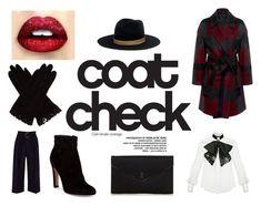 Designer Clothes, Shoes & Bags for Women Check Coat, River Island, Tartan, Yves Saint Laurent, Shoe Bag, Polyvore, Pink, Collection, Shopping