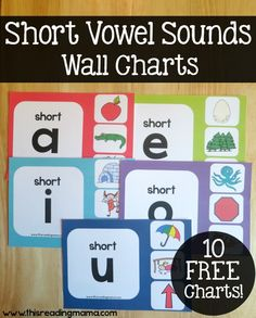 Short Vowel Sounds Wall Charts {Free Resource}   This Reading Mama