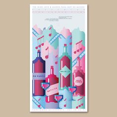 Wine exhibition poster Frän Alðnssön 2012 Exhibition Poster, Love, Graphic Design, Fruit, Amor, The Fruit, El Amor, I Like You, Visual Communication