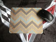 Amazon.com : Vintage Wood Chevron Unique Custom Mouse Pad Mousepad : Office Products