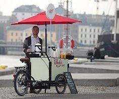 Cafeteria em bicicleta funciona com energia solar e faz sucesso na Suécia Empresa agora quer se tornar franquia global e aposta em site de f...
