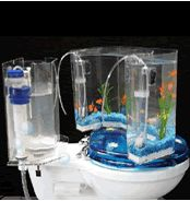 Fish 'n Flush Toilet-Tank Aquarium  - $171.50 because your fish want to see that...