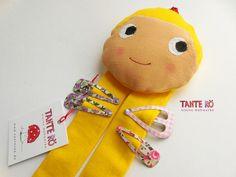"""Haarspangenhalter+""""Rapunzel""""++-+Blondine+-++von+Tante+Rö+auf+DaWanda.com"""