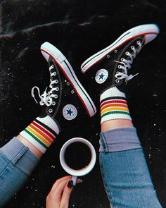 Converse Chuck Taylor All Star High Top Sneaker Sock Shoes, Cute Shoes, Me Too Shoes, Aesthetic Shoes, Aesthetic Clothes, Aesthetic Grunge, Aesthetic Anime, Converse All Star, Converse Shoes