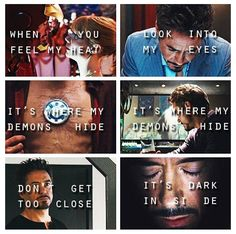 Tony Stark. Wow that song is perfect. 'Demons' by Imagine Dragons.
