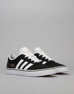 Adidas Adi-Ease Skate Shoes - Core Black/FTWR White/Gold Met