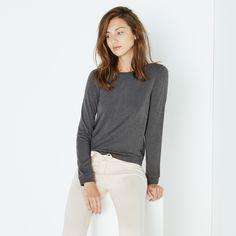 top manches longues HEATTECH loungewear gris
