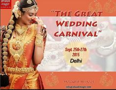 Take part in this 'Wedding Carnival' festival. Showcase your work at Radisson Blue, Delhi.   Feel free to drop a mail for any queries. Infoshaadimagic@gmail.com.