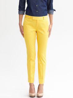 Hampton fit textured crop pant