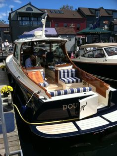 Hinckley docked in my hometown harbor